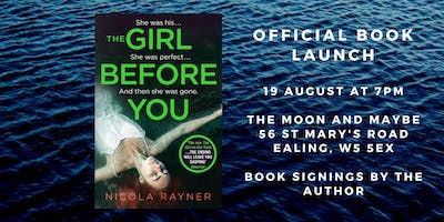 The Girl Before You book launch - Nicola Rayner