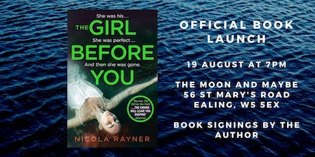 The Girl Before You book launch - Nicola Rayner tickets