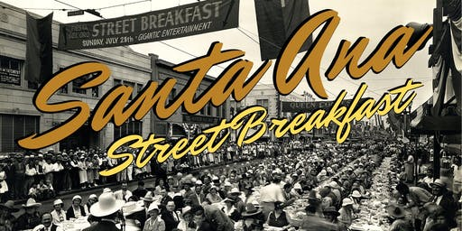 Group Tables at the Santa Ana 150th Birthday Street Breakfast
