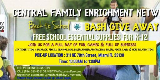 Central FEN BACK TO SCHOOL BASH GIVE AWAY