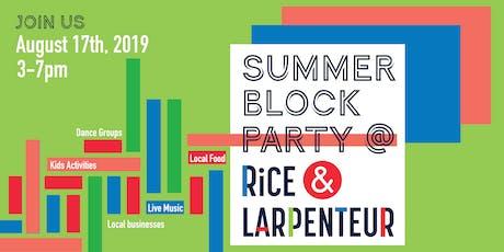 Summer Block Party @ Rice & Larpenteur tickets