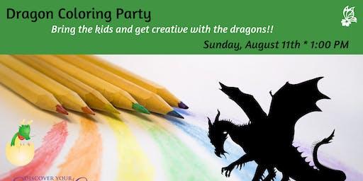 Dragon Coloring Party