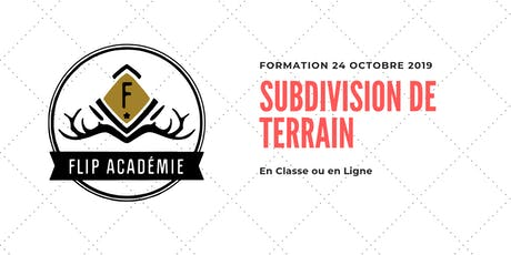 Formation : Subdivision de terrain tickets