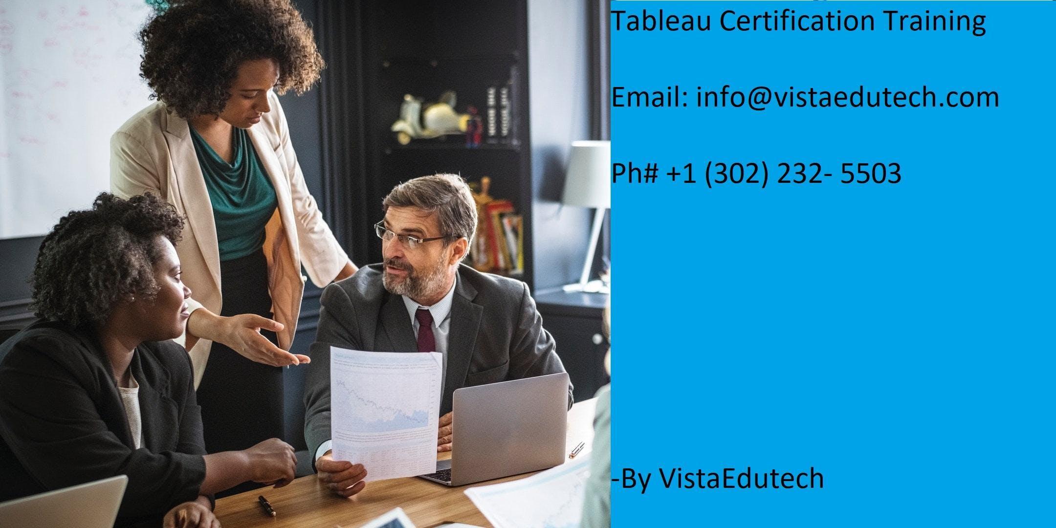 Tableau Certification Training in Evansville, IN
