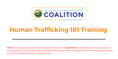 Human Trafficking 101 Training November 2019