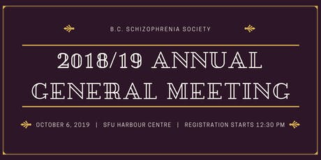 2018/19 British Columbia Society Annual General Meeting & Panel Presentation tickets