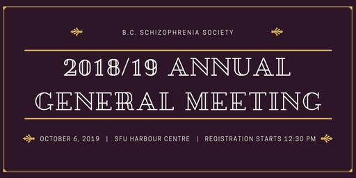 2018/19 British Columbia Society Annual General Meeting & Panel Discussion