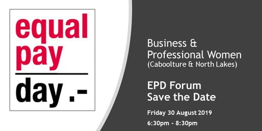 Equal Pay Day Forum - Save the Date