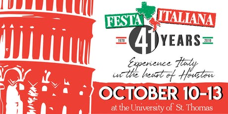 41st Houston Italian Festival tickets