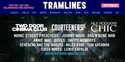 Tramlines Sheffield 2019 Weekend general admission