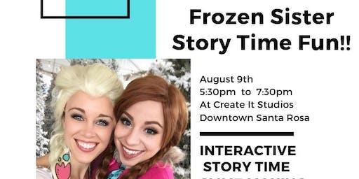 Frozen Sister Story Time FUN