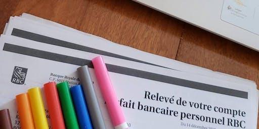 Atelier en ligne sur la finance: Cherche et trouve tes revenus! (Rive Sud)