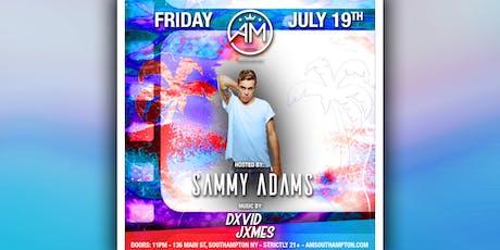 SAMMY ADAMS @ AM Southampton - July 19th  tickets