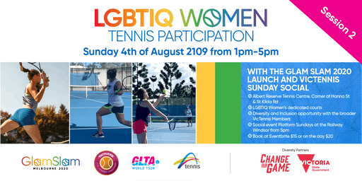 VicTennis LGBTIQ Womens Participation Session 2 and Glam Slam Launch