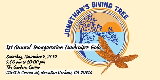 Jonathan's Giving Tree 1st Annual Inauguration Fundraiser Gala