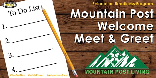 Mountain Post Welcome Meet & Greet (Spouse Newcomers Orientation)