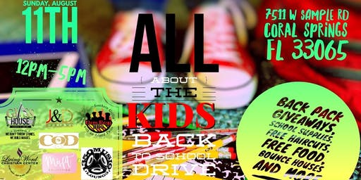 ALL ABOUT THE KIDS BACK TO SCHOOL DRIVE
