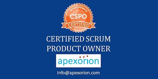CSPO (Certified Scrum Product Owner) - Aug 17-18, Plano, TX