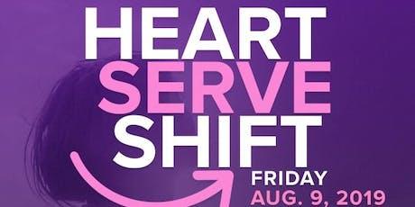 Heart, Serve & --> Shift! tickets