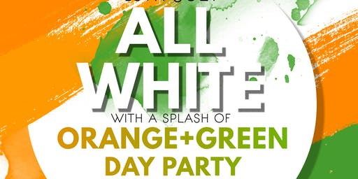 Huffman Alumni Week All White with a splash of Orange and Green Day Party