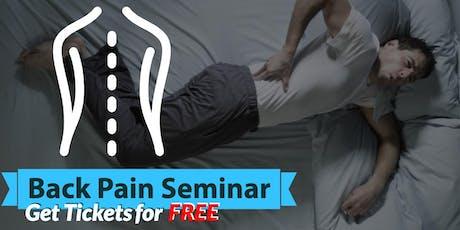 Free Back Pain Relief Brunch Seminar - St. Petersburg, FL tickets