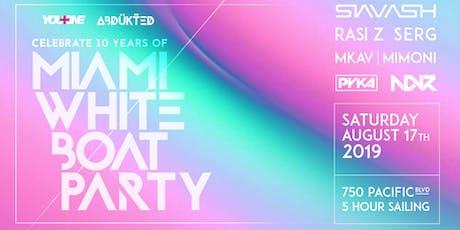 Miami White Boat Party (10th Anniversary) tickets