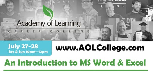 Introduction to the Basics of Word & Excel - Academy of Learning Westshore