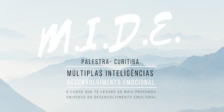 Palestra MIDE - Múltiplas Inteligências e Desenvolvimento Emocional 30/07 ingressos