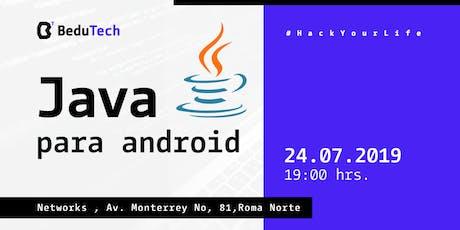 Java para Android entradas