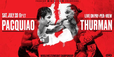 Boxing Pacquiao vs Thurman @ Straw Hat Pizza - Alameda tickets