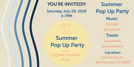 Summer Pop Up Party tickets