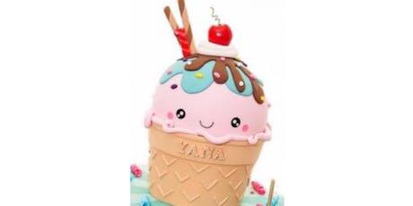 Ice Cream Cone Adult Cake decorating class tickets