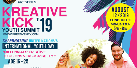 CREATIVE INDUSTRY -International Youth Day-Kreative Kick  Youth Summit 2019 tickets