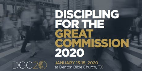 DGC20: Discipling for the Great Commission tickets