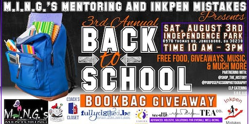 M.I.N.G.'s Mentoring and Inkpen Mistakes 3rd Annual Bookbag Giveaway