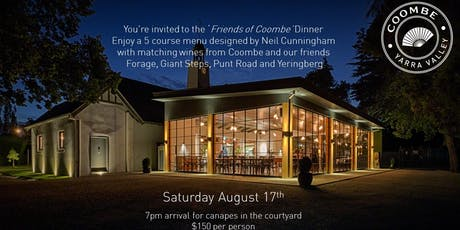 'Friends Of Coombe' Dinner tickets