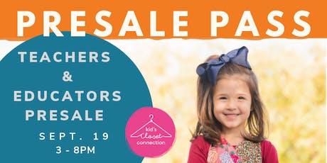 Fall 2019 Teachers & Educators PreSale tickets