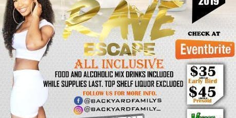 All white Rave Escape ALL INCLUSIVE tickets