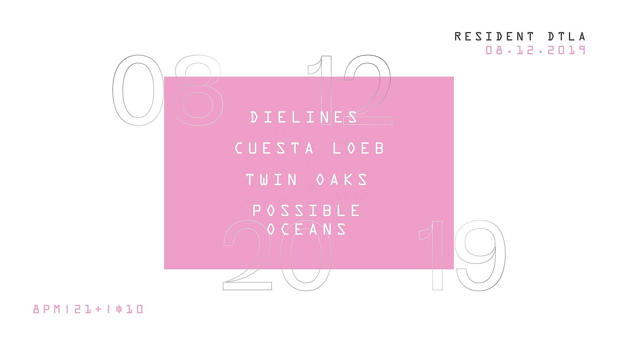 Dielines, Cuesta Loeb, Twin Oaks, Possible Oceans