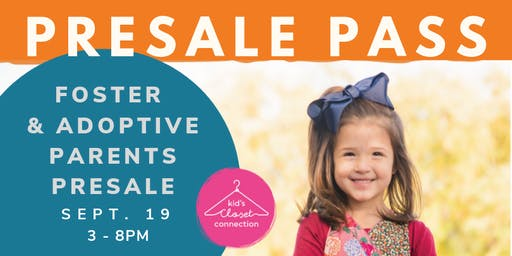Fall 2019 Foster & Adoptive Parents PreSale