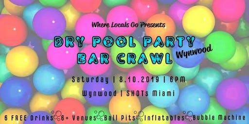 Dry Pool Party Bar Crawl Wynwood