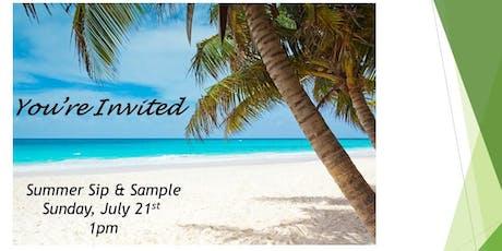 Summer Sip & Sample tickets