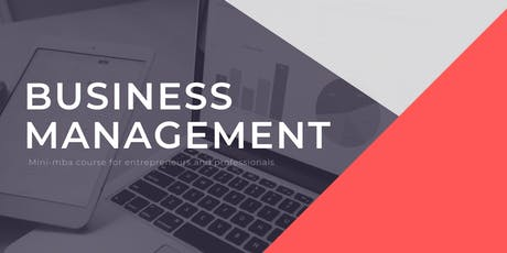 FREE BUSINESS MANAGEMENT COURSE tickets