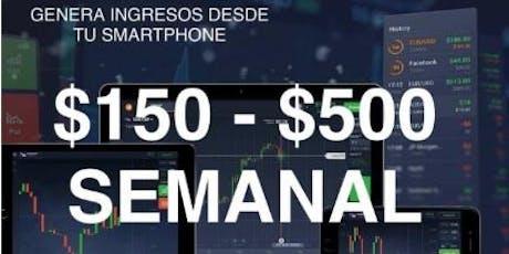 Genera ingresos desde tu smartphone - 150 a 500 dolares entradas