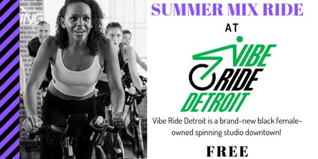 Summer Mix Ride with Vibe Ride Detroit and TCN tickets