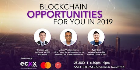 Blockchain Opportunities for You in 2019  tickets