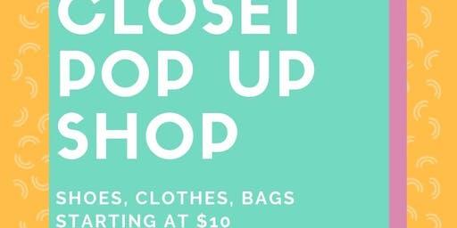 CLOSET POP UP SHOP SALE