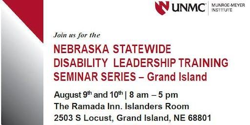 Nebraska Statewide Disability Leadership Training  Seminar Series