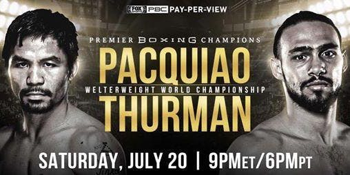 PACQUIAO VS THURMAN WBA BOXING 7/20