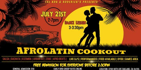 Afrolatin Cookout: Season 2  *3  for 1 Pre-sale ONLINE ONLY * tickets